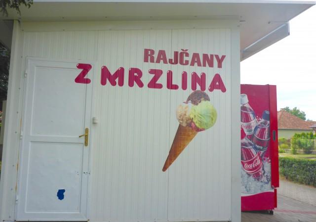 Eiswagen mit leckerem Eis